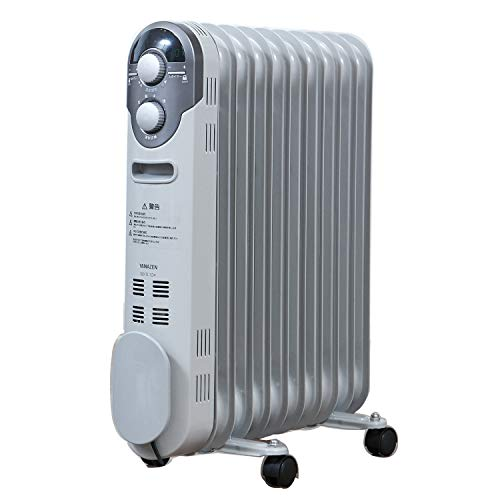 [山善]オイルヒーター(1200/700/500W3段階切替式)(温度調節機能付)(24時間入切タイマー付)ホワイトDO-TL124(W)[メーカー保証1年]