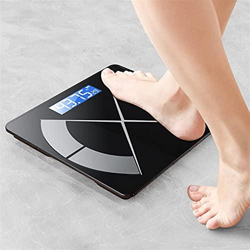 JSJJAUJ Corporal Báscula Bluetooth Cuerpo Escala de Grasa Electronic Digital Scale Smart Peso Scale Suelo Scale Balance Balance Body Pesaje Escala BMI Índice (Color : Pink)
