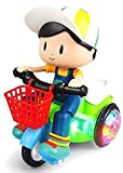 Ladli™ Children Electric Stunt Tricycle Toy Universal Headlights Music Rotating Stunt Big Head