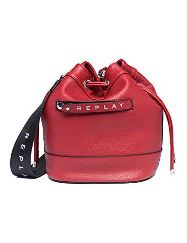 Replay Damen Fw3839.000.a0132d Umhängetasche, Rot (Gloss Red), 17x25x21 cm