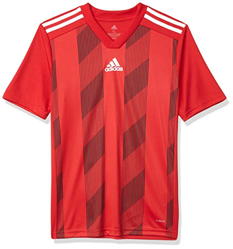 adidas Men's Striped 19 Soccer Jersey, Power Red/White, Medium