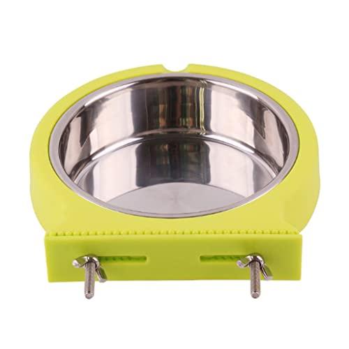 Moosunsa Crate - Comedero colgante de acero inoxidable para perros con jaula de alimentación y agua extraíble para cachorros de gatos, pájaros, ratas