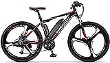 Bicicleta electrica Bicicletas, bicicleta de montaña mejorada, bicicleta de 250W de 26 pulgadas con batería de litio de 36V 10AH para adultos, 27 level de turno asistido, rango de conducción de 7090 k