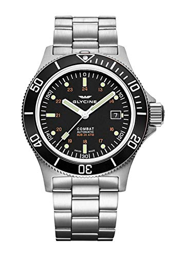 Glycine Combat Sub GL0185 - Reloj de pulsera para hombre (fecha 42, analógico, automático)
