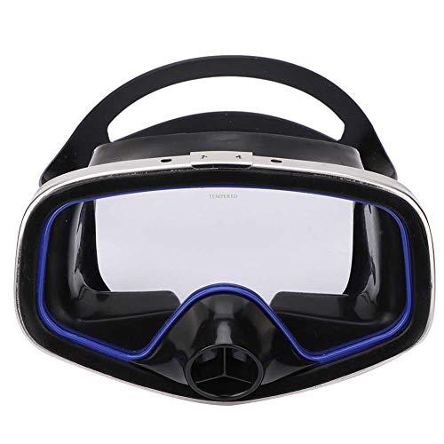 Swim Goggles, Adult Professional Swim Anti-fog Lens Goggles Wear Impact Resistant Tempered Scuba Snorkeling Glasses Diving Half Face Mask Swimming Glasses Freediving Equipment Unisex
