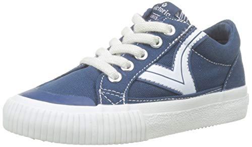 Victoria Tribu Lona Retro, Zapatillas Niños, Azul (Azul 36), 28 EU