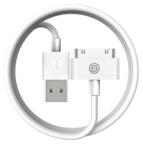 Iphone 4S Câble, OPSO Apple MFi certifié 30 Broches à USB Sync et câble de Charge pour Apple iPhone 4 4S, iPod et iPad 3ème Génération - 4.0 Pieds (1.2 Mètre) - Blanc