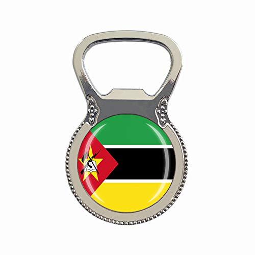 Mosambik Flagge Bierflaschenöffner Kühlschrank Magnet Metall Glas Kristall Reise Souvenir Geschenk Heimdekoration