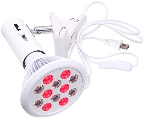 Red Light Therapy Bulb with Socket HebutyLife 24W 12 LED Near Infrared Light Therapy Device product image