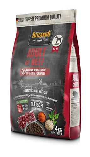 Belcando Adult GF Beef [4 kg] getreidefreies Hundefutter | Trockenfutter ohne Getreide | Alleinfuttermittel für ausgewachsene Hunde ab 1 Jahr