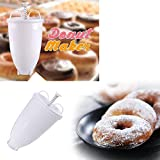 Homefami Plastic Doughnut Donut Maker Machine Mold DIY Tool Kitchen Pastry Making Bake Ware Stainless Steel White