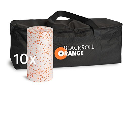 blackroll-orange Trainer BAG Sporttasche inkl. 10 Faszienrollen MED