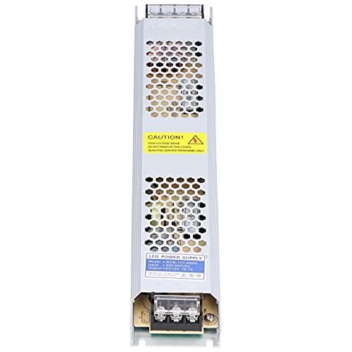 CUTULAMO Controlador de Fuente de alimentación LED, diseño Hueco Fuente de alimentación conmutada Conveniente para CCTV con Tira de luz LED