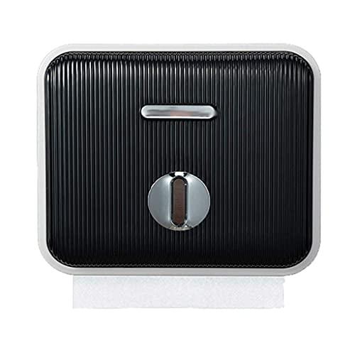 HYLK Dispensador de Toallas de Papel Comercial Dispensadores de Toallas de Papel, Dispensadores de Papel higiénico comerciales Soporte de Toalla de Papel de Montaje en Pared para baño, Adhesivo d
