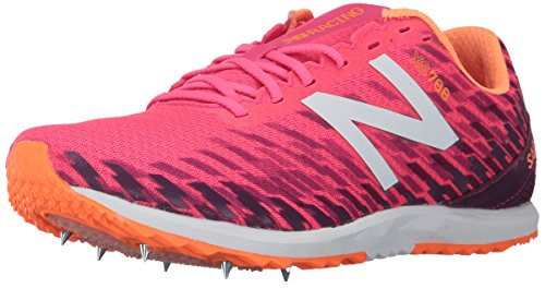 New Balance Women's 700V5 Removable Spike Track-Shoes, Alpha Pink/Dark Mulberry, 9.5 B US