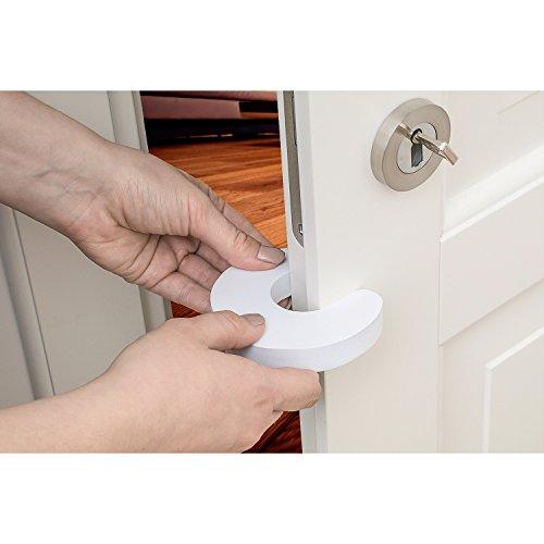 Tatkraft Nan Door Stopper, Steel, weiß, 9.4x9.4x1.5CM