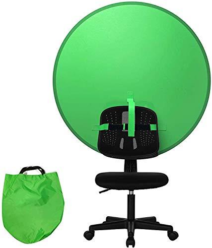 AILOS Greenscreen Tuch Faltbar,Fotohintergrund,Greenscreen Stuhl,doppelseitige Chroma Key grün,ntergrund Vliesstoff grün, Green Screen, Green Screen Stuhl, Green Panel Hintergrund (grün)