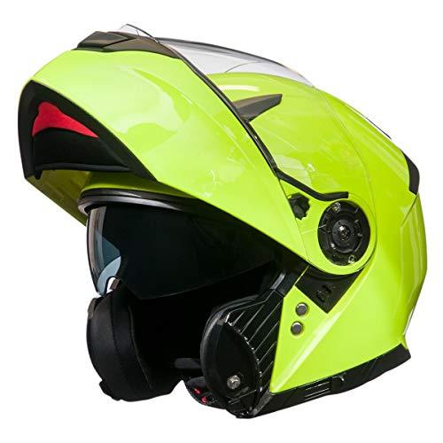 BiLT Power Men's Modular Helmet, Hi-Viz Yellow, 2XL