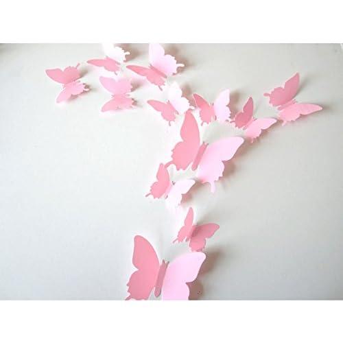SUNBEAUTY 1 Paquete de 12 piezas mariposa 3D adorno para ...