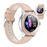 HQPCAHL Reloj Fitness Tracker IP67 Impermeable Salud Seportes Smartwatch con Frecuencia Cardíaca Presión Arterial Sueño Contador De Calorías Podómetro Recordatorio SMS iOS Android,Oro