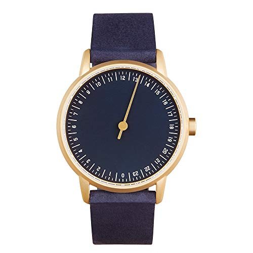 slow Round 10 - Blue Leather, Gold Case, Blue Dial