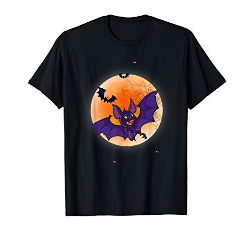 Lindo disfraz de murciélago y arañas para niños de Halloween Camiseta