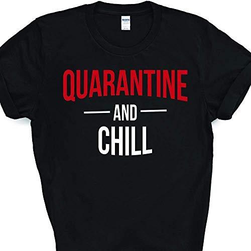 Quarantine And Chill Funny Netflix Coronavirus Pandemic Parody T-Shirt For Men Women Adults Shirt
