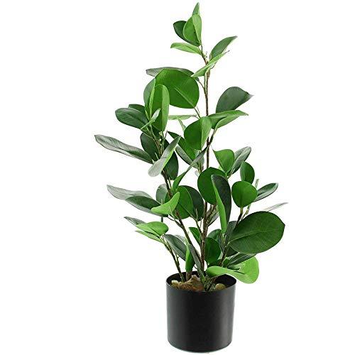 SIDCO Künstliche Pflanze Deko Baum Fikus Kunstpflanze Gummibaum Dekopflanze