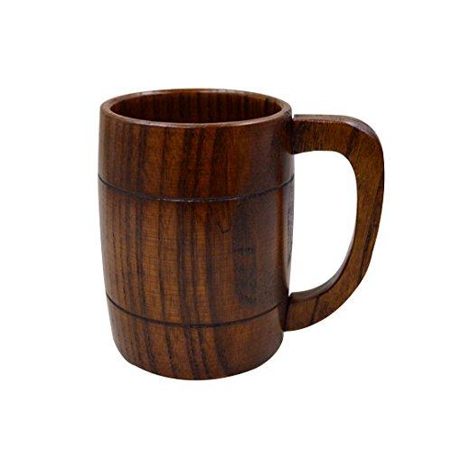 Milya traditionellen Holzhumpen hölzerner Bierkrug Handwerkskunst Dekorationsbecher
