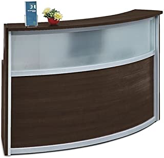 Compass Reception Desk with Glass Panel 72