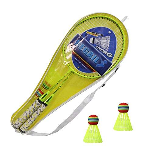 yzl Badmintonschläger Tennis Komplettset Tennisschläger Bälle Badminton Kit Indoor Outdoor Beach Sports Spielspiel für Jungen, Mädchen, Kinder