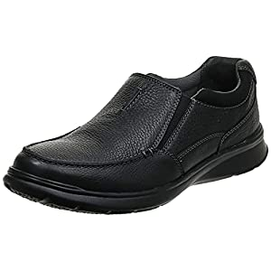 Clarks Men's Cotrell Free Shoe, black oily leather, 10.5 Medium US