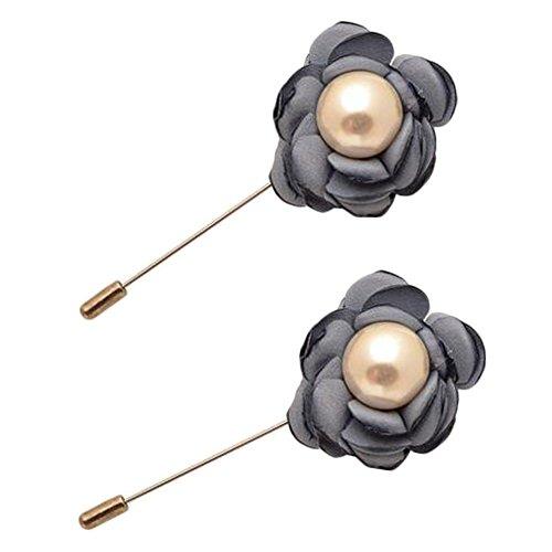 Broches épingle élégante Broches 2PCS broches de colliers de décoration pour dames, gris