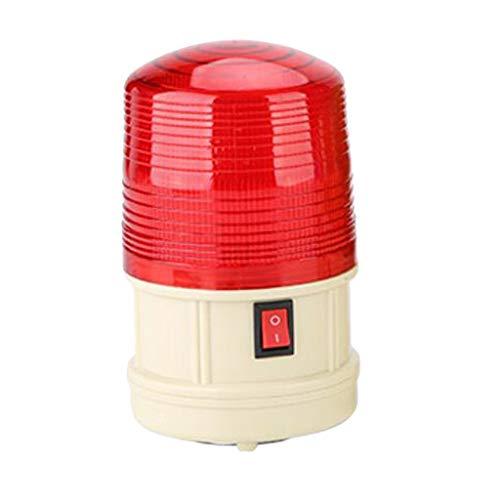 FLAMEER Clignotant Lampe Lumière Stroboscopique Flash d'Avertissement LED - Rouge 12V