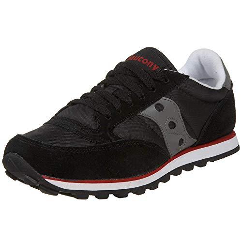 Saucony womens Jazz Low Pro Sneaker, Black/Gray/Red, 8 M US