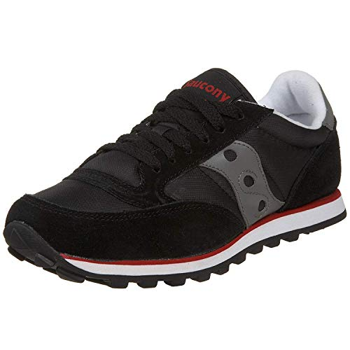 Saucony womens Jazz Low Pro Sneaker, Black/Gray/Red, 7.5 M US
