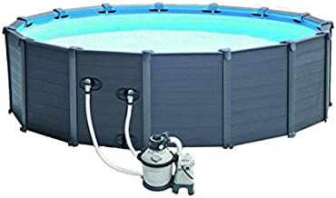 Intex Graphite Gray Panel Pool Set, Azul/Gris, 478x 478x 124cm, 16,81L, 28382GN