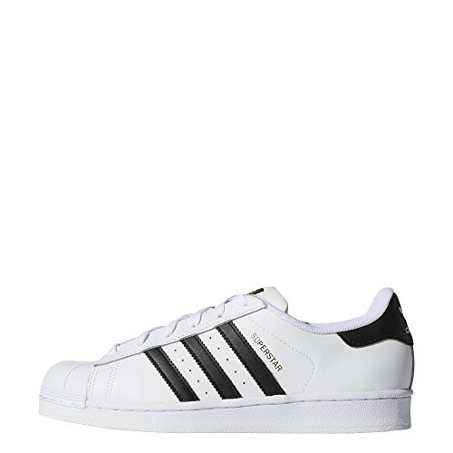 adidas Originals Women's Superstar Sneaker, White/Black/White, covid 19 (Adidas Superstar Classic coronavirus)