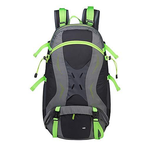 WHSS Deportes al aire libre montañismo bolsa senderismo ocio deportes mochila/hombres/mujeres al aire libre piel bolsa mochila (color: verde)