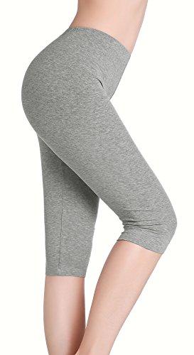 CnlanRow Womens Soft Stretch Cropped Leggings - Under Skirt Shorts Leggings for Women