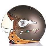 Casco de bicicleta Mujer Casco de moto Jet Moto 3/4 Cascos m