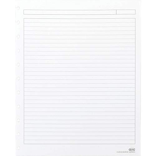 Staples Arc Notebook Reinforced Premium Refill Paper Letter Sized White Narrow Ruled 50 Sheets
