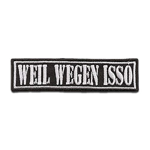 Parches - Biker cotizar frase Weil Wegen Isso - termoadhesivos bordados aplique para ropa