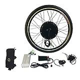 48V 1000W Electric E Bike Brushless Front Hub Motor Ebike Conversion Conversion Kit 26' Front Wheel Motor Bicycle Hub