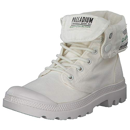 Palladium Baggy Organic Sneaker Damen High Top Freizeitschuhe Weiße in versch. Größen 76633 Weiß (White) 42 EU
