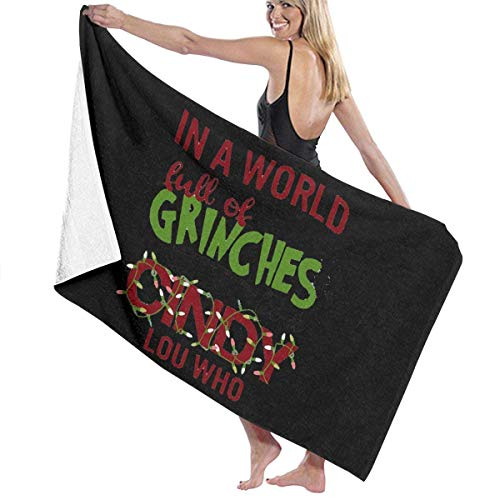 asdew987 Grinches Be A Cindy Lou Who-Shirt, Dr. Seuss bedrucktes Mikrofaser-Strandtuch