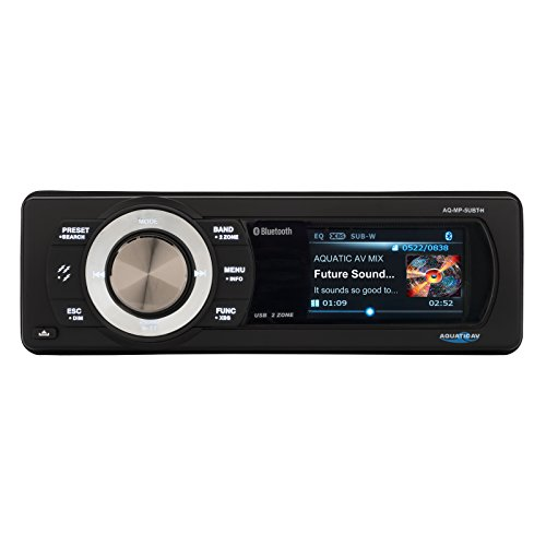 Aquatic AV AQ-MP-5UBT-H Factory Harley Davidson Replacement AM/FM Radio with 3' Color LCD Display, Bluetooth & MP3 Media Player Stereo