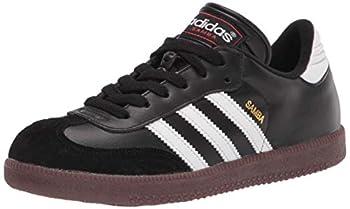 adidas Samba Classic Soccer Shoe White/Black/White 4 US Unisex Big Kid