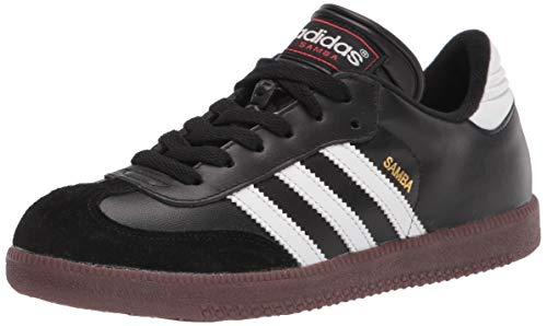 adidas Samba Classic Soccer Shoe, White/Black/White, 3.5 US Unisex Big Kid