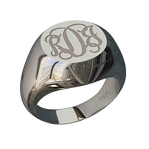 monogrammed ring - 5